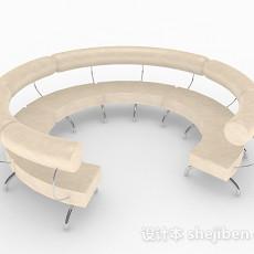 黄色多人沙发3d模型下载