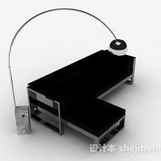 黑色多人沙发3d模型下载