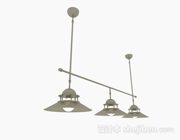 吊灯模型下载_复古风格圆形吊灯3d模型下载-设计本3D模型下载