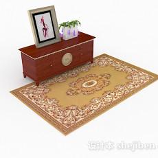 木质棕色厅柜3d模型下载