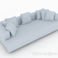 灰色简约双人沙发3d模型下载