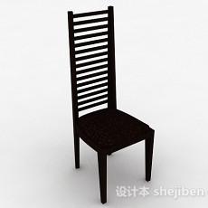 欧式棕色木椅3d模型下载