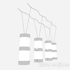 时尚家居吊灯3d模型下载