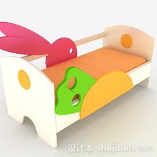 粉色兔子造型儿童床3d模型下载