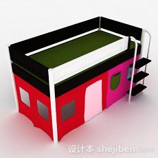 彩色儿童床3d模型下载