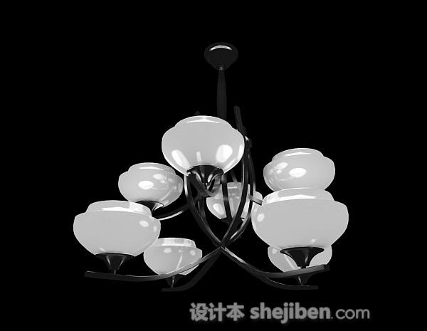 白色花朵状吊灯