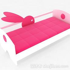 红白双色儿童床3d模型下载