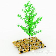 绿色小树苗3d模型下载