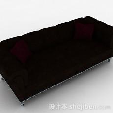 棕色双人沙发3d模型下载