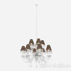 欧式水晶吊灯3d模型下载