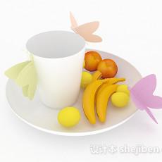 现代白色陶瓷餐具3d模型下载