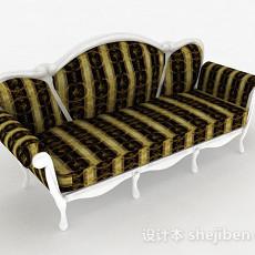 欧式绿色双人沙发3d模型下载