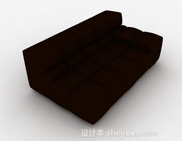暗红色双人沙发