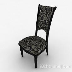 新古典风格黑色木椅3d模型下载