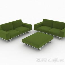 绿色简约组合沙发3d模型下载