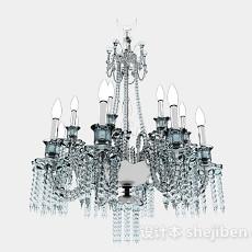 水晶吊灯3d模型下载