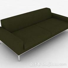 绿色简约双人沙发3d模型下载
