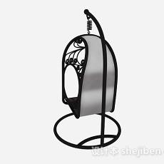 欧式黑色户外吊椅3d模型下载