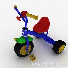 彩色儿童小三轮车3d模型下载