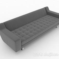 灰色多人沙发3d模型下载