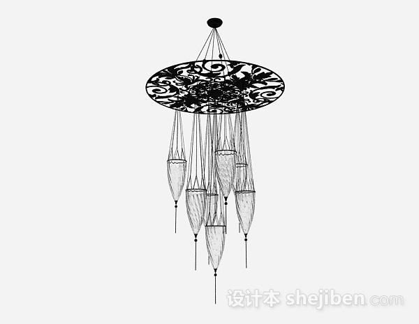 欧式黑色酒杯型吊灯