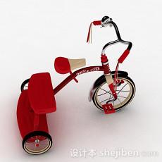 儿童红色小三轮车3d模型下载
