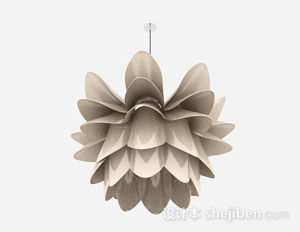 现代风格金属莲花造型吊灯
