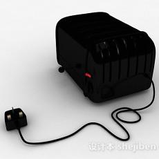 黑色面包机3d模型下载