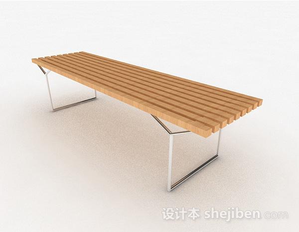 现代风浅木色多人凳子