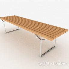 现代风浅木色多人凳子3d模型下载