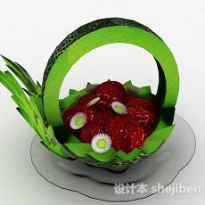 现代风水果拼盘3d模型下载