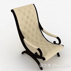 欧式米色调家居椅3d模型下载