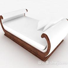 欧式白色脚踏沙发3d模型下载