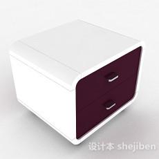 紫色时尚床头柜3d模型下载