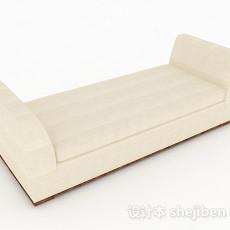 简约风格长沙发凳3d模型下载