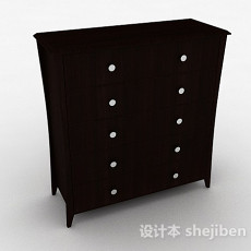 木质家居玄关柜3d模型下载