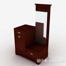 枣红色木质衣柜3d模型下载