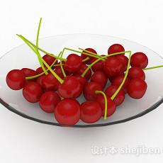 红色樱桃3d模型下载