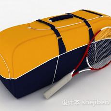 黄色运动包3d模型下载