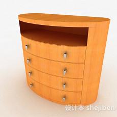 黄色床头柜3d模型下载