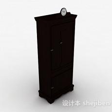 黑色单门储物柜3d模型下载