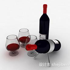 红酒3d模型下载