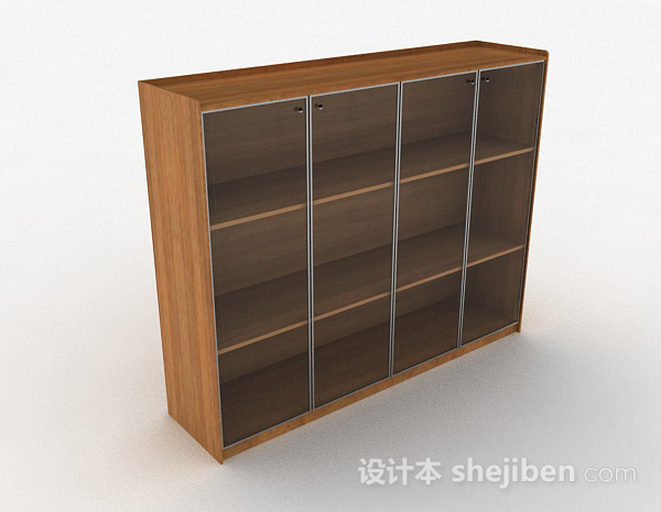 木质三层展示柜