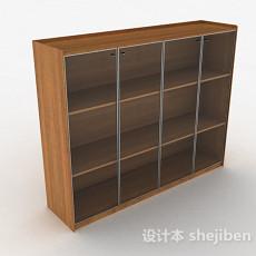 木质三层展示柜3d模型下载