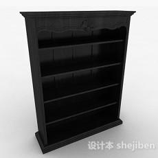 欧式黑色书柜3d模型下载