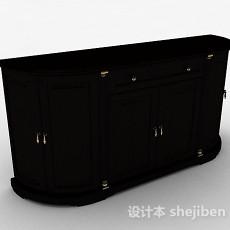 实木家居厅柜3d模型下载