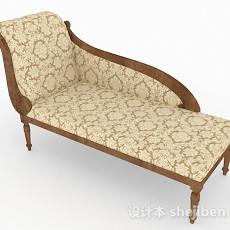 欧式风格家居双人沙发3d模型下载