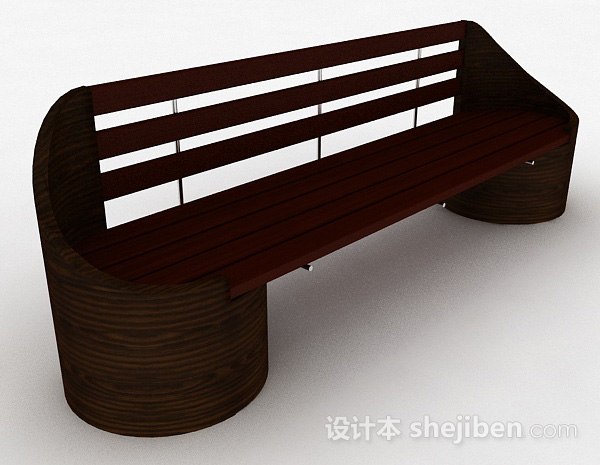 木质棕色休闲椅