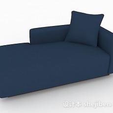 现代风藏蓝色休闲沙发3d模型下载