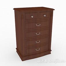 家居木质厅柜3d模型下载